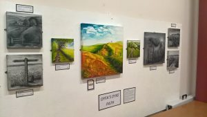 Elaine Morgan exhibition - artworks inspired by Offa's Dyke @ Offa's Dyke Centre