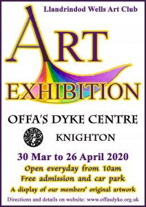 POSTPONED Llandrindod Wells Art Group Exhibition @ Offa's Dyke Centre